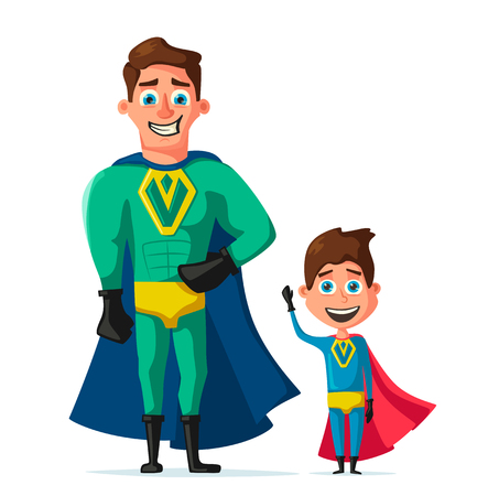 abilities: Superhero in uniform. Cartoon vector illustration Illustration