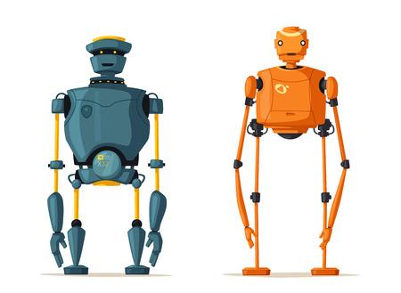 ロボットのキャラクター。技術、将来。漫画のベクトル図