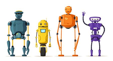 bionic: Robot character. Technology, future. Cartoon vector illustration