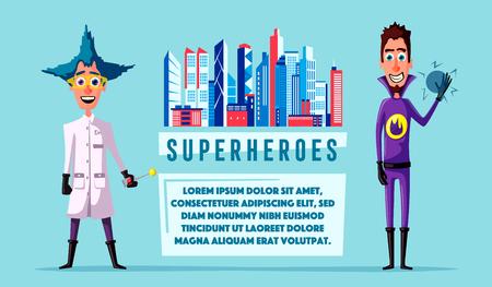 Set of superhero.