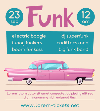 Funk music poster Illustration