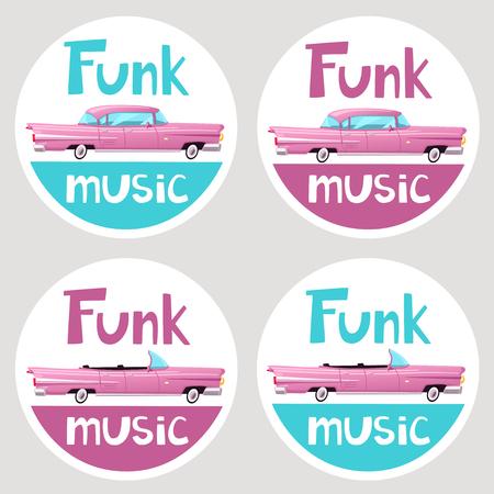 Funk music stickers