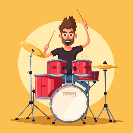 Drummer. Illustration