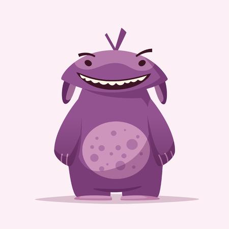 Funny cute monster character. Cartoon vector illustration. Illustration