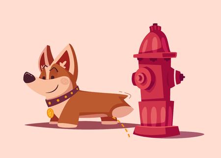 Dog character. Best friend. Cartoon vector illustration