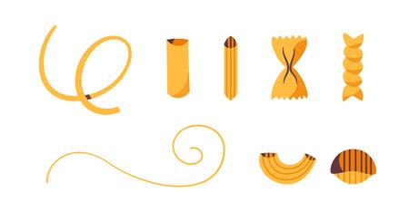 Italian food. Delicious pasta. Cartoon vector illustration.