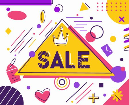 Modern dynamic fluid banner for sale. Flat vector illustration. Trendy Black Friday template design Stock Illustratie