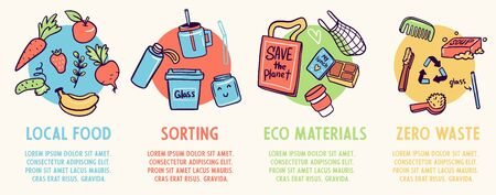 Eco-friendly lifestyle vector infographic template. Vector illustration