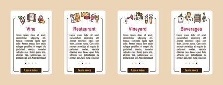 Wine making color linear icons set Çizim