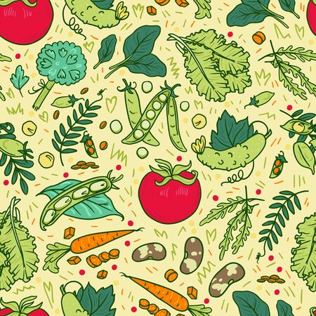 Vegetable hand drawn vector illustrations set. Vegan dishes. Cucumber, tomato, pumpkin stickers. Healthy nutrition. Organic and natural products. Salad leaves and veggies handdrawn icons collection 일러스트