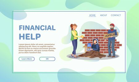 Volunteer help flat illustration