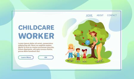 Volunteer help flat illustration