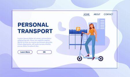 Eco transport flat illustration