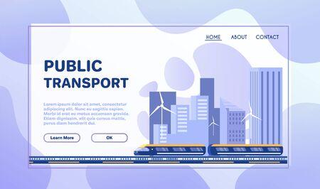 City transportation flat illustration