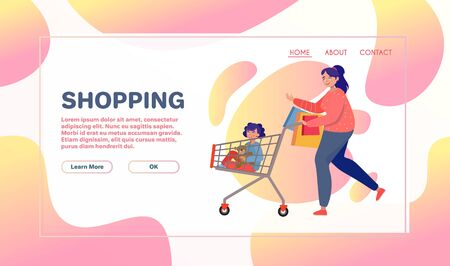 Customers flat vector characters. Shopper buying presents. People doing shopping, making orders. Men and women with gifts boxes, shopping bags. Consumerism concepts. Shopaholics cartoon illustrations 向量圖像