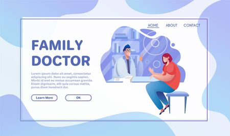 Healthcare services flat vector illustration Illustration
