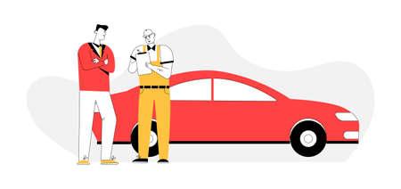 Auto mechanic draws up agreement, billing customer in car service
