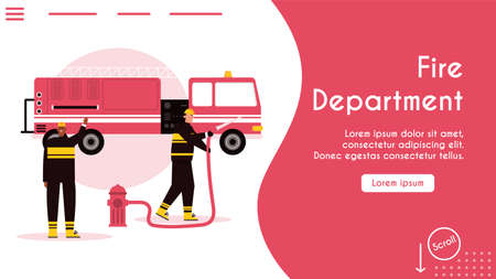 Vector banner of Fire department concept Ilustrace