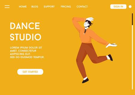 Vector landing page of Dance Studio concept