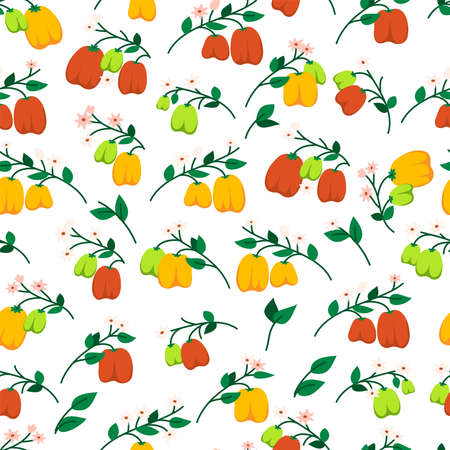 Vector seamless pattern with bell peppers