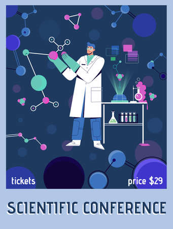 Vector poster of Scientific Conference concept