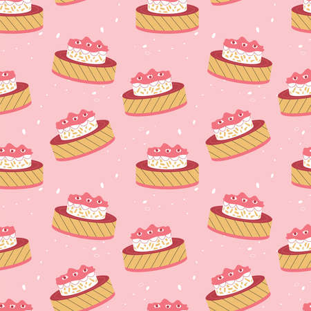 Vector seamless pattern with confectionery