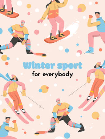 Vector poster of Winter Sport for Everybody concept