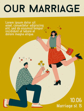 Vector poster of Our Marriage concept