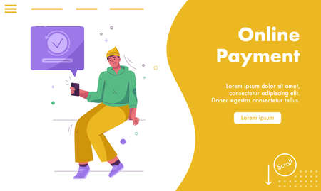 Vector landing page of Online Payment concept