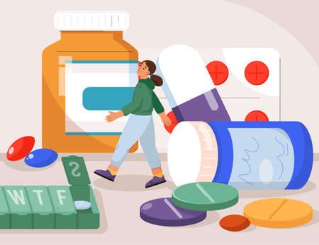 Vitamins, medicines in pharmacy and sports dietary supplements