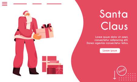 Vector landing page of Santa Claus concept Illusztráció