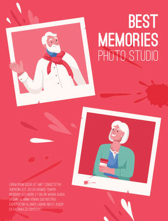 Vector poster of Best Memories for Photo Studio concept