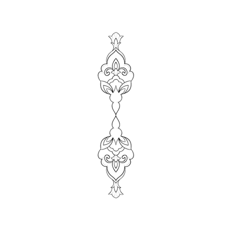A sketch of a beautiful symmetrical pattern on a white background. Illustration