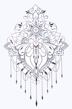 A sketch of a beautiful pattern on a white background.
