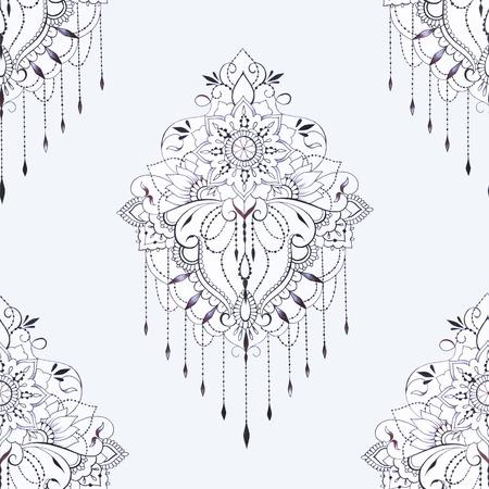 Seamless pattern of beautiful ornament on a white background. Standard-Bild