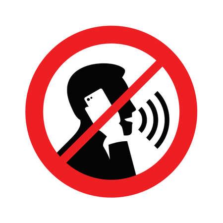 No-phonetalking Vektoros illusztráció