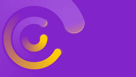 Concentrated radial swirl on purple abstract futuristic background - corporate identity layout vector template