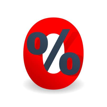 0 - zero percents commission sticker for credit company special offers - vector isolated element Illusztráció