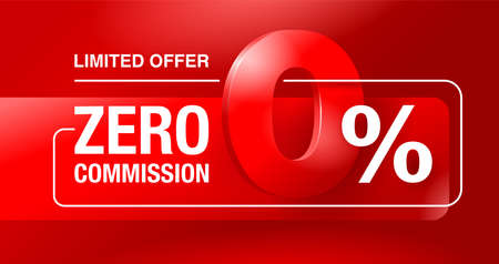percents limited time special offer banner template - zero commission limited offers message for web, poster, promo materials - vector layout