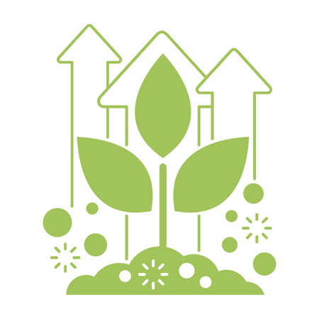 Organic fertilizer emblem - farming agriculture useful component - naturally occurring organic wastes - isolated vector icon