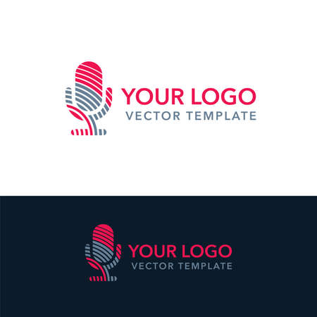 Microphone pictogram template for leading, singer, event, karaoke party