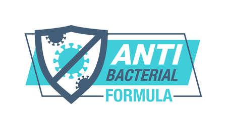 Antiviral antibacterial coronavirus formula 矢量图像