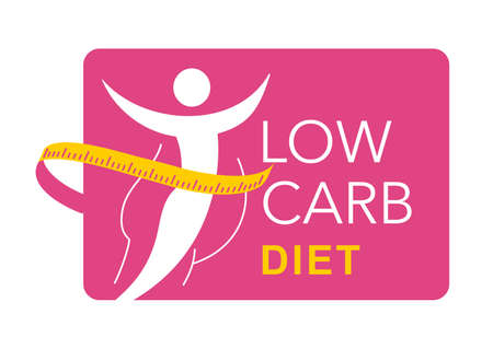 Low-carbohydrate diet that restrict carbohydrate consumption - crossed wheat, honey and sugar - isolated vector icon. Vector illustration