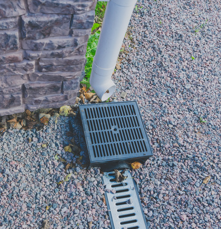 the drainage system of rain water drainage