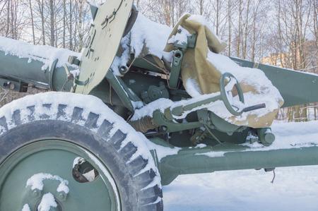anti-tank gun, scope, configuration management. Stock Photo