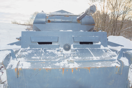 front view German tank of the second world war. Stock Photo