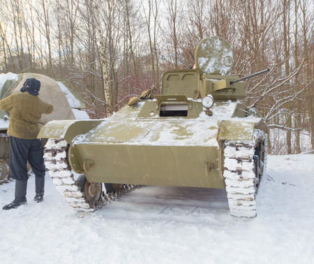 tankers near the Russian t-60, the weapon of the second world war. Editorial