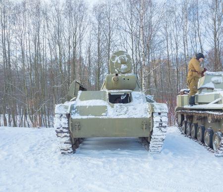 winter is the t-70 Russian tank of world war II.