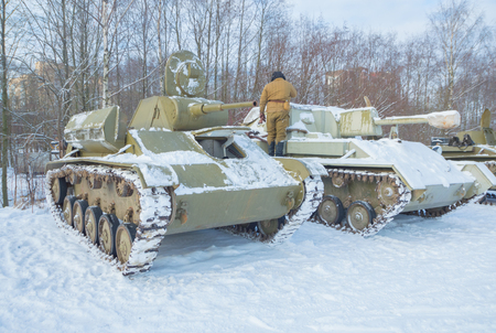 Russian tanks t-70 and su-76, the formidable machine of the second world war. Editorial