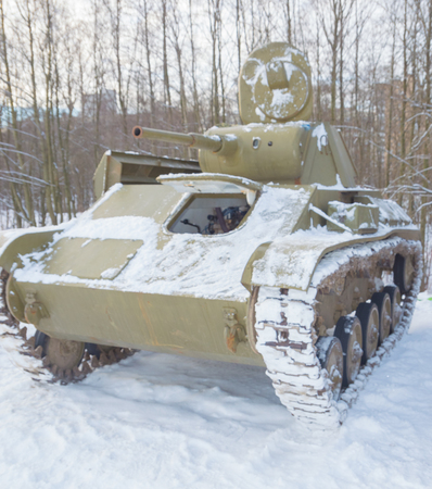 Russian world war II tank t-70.